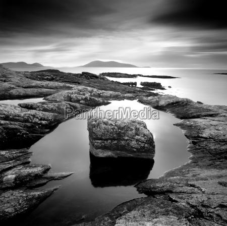 erratic in tidal pool on isle