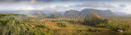 panoramic view of the vinales valley