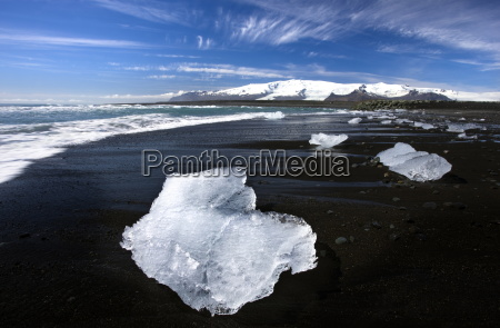 piece of glacial ice washed ashore