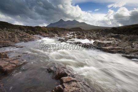 river sligachan tumbling over rocks with