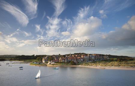 alnmouth village and the aln estuary