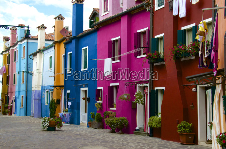 fishermens colored facade houses burano venice