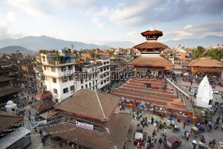 view over durbar square from rooftop