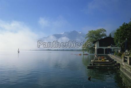 morning mist zell am see austria