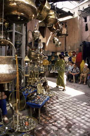 handicraft souk marrakech morocco north africa