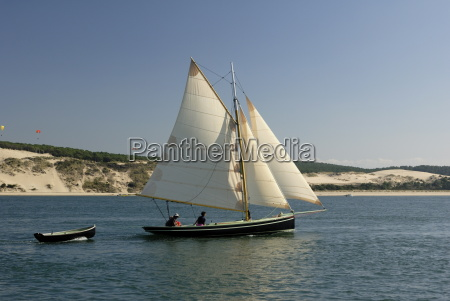 od gaff rigged sailing yacht and