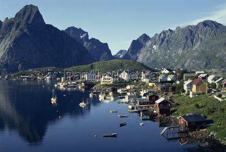 hamroy fishing village during summer lofoten