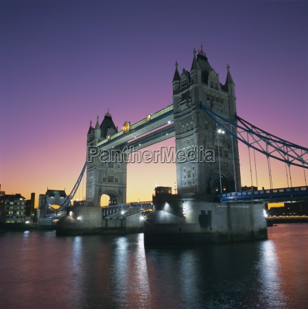 evening tower bridge and river thames