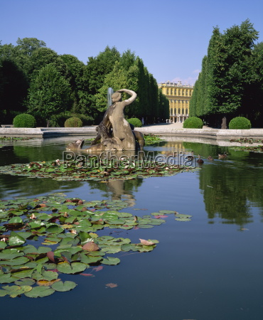 lily pond and naiad fountain in
