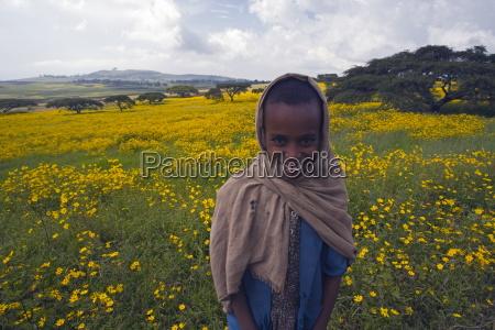 portrait of local girl green fertile