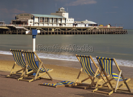 deckchairs on the promenade overlooking the