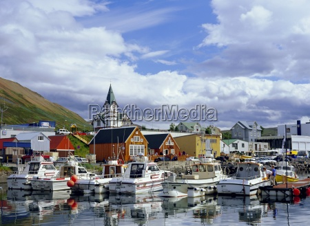 the harbour and quay of husavik