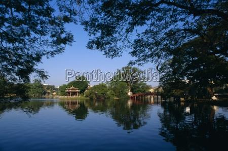 ho kiem lake hanoi north vietnam