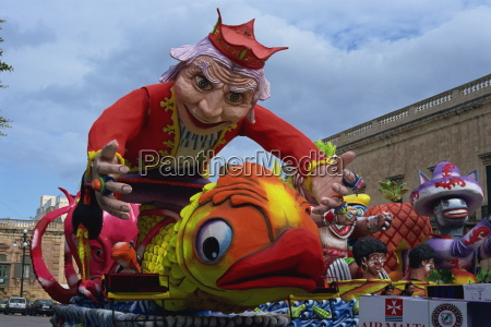 carnival floats valletta malta europe