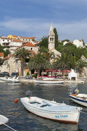 splitska harbour brac island dalmatian coast