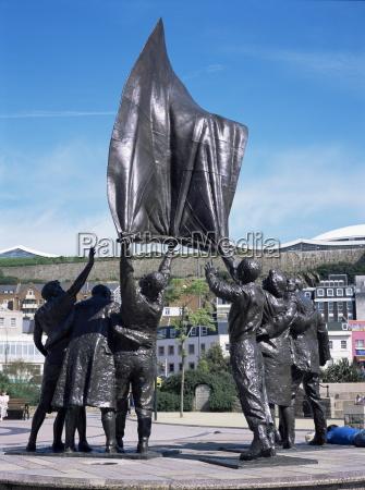 liberation statue st helier jersey channel