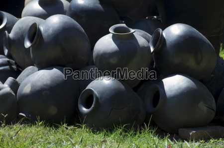 black pottery typical of oaxaca mexico