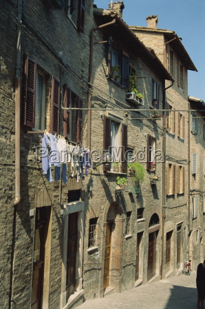 houses on a narrow street in