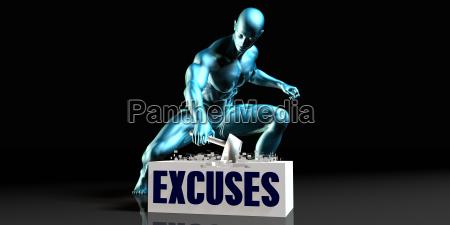 get rid of excuses