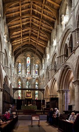 hexham abbey interior of choir looking