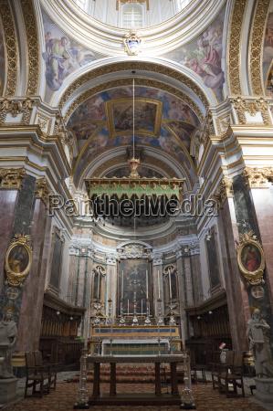 interior st pauls cathedral mdina malta