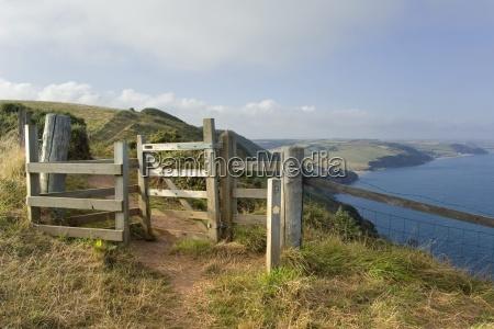 stile devon coast path south hams