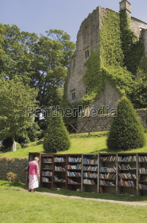 bookstall in grounds of hay on