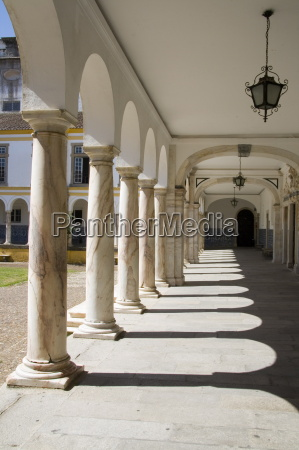 evora university arcaded courtyard evora alentejo