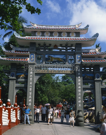 the ornate gateway to the tiger