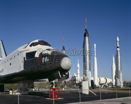 retired shuttle and rockets kennedy space