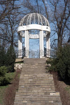 gazebo in krasnodar park urban garden