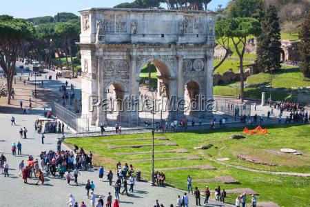the arch of constantine rome lazio