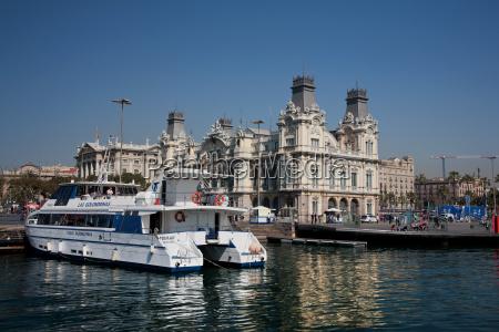 old barcelona port authority building port