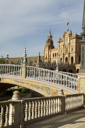 plaza de espana erected for the