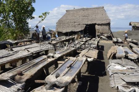 marine salt production kusamba bali indonesia