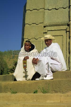 bride and groom stelae field axum