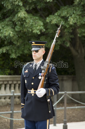 guard at the tomb of the