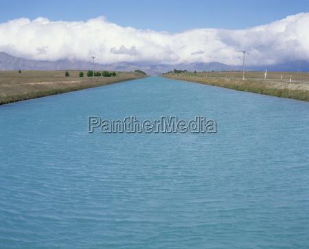 hydro canal between lakes tekapo and