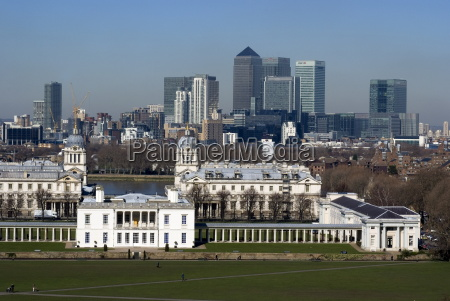 view from greenwich park overlooking the