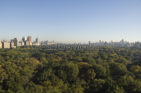 view of central park from south
