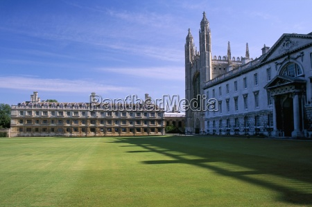 lawn and chapel kings college cambridge