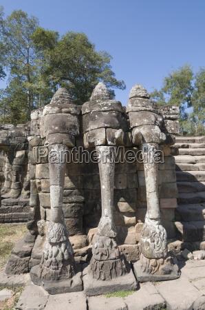 elephant terrace angkor thom angkor unesco