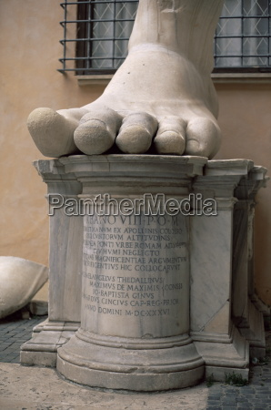 giant foot from the emperor constantine