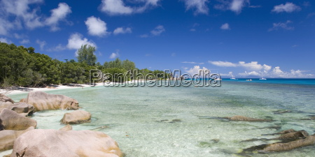 clear waters off the beach at