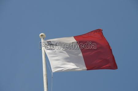 flag valletta malta europe