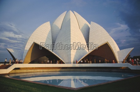 the bahai lotus flower temple built