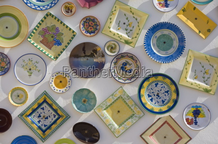 traditional portuguese pottery at artisan workshop