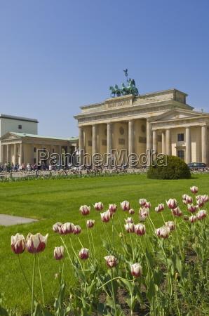 tourists enjoying spring sunshine in the