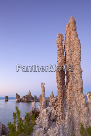 tufa spires and tower formations of