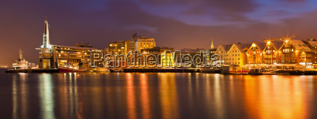 arctic city of tromso harbour port